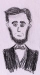 President Lincoln pencil cartoon (torso)