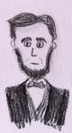 President Lincoln pencil cartoon (torso)