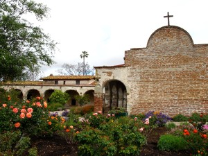 Photograph of arches in the the Capistrano Mission of California